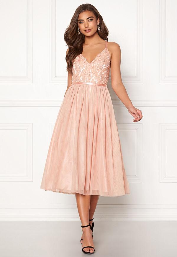 Moments New York Daphne Mesh Dress Dusty pink