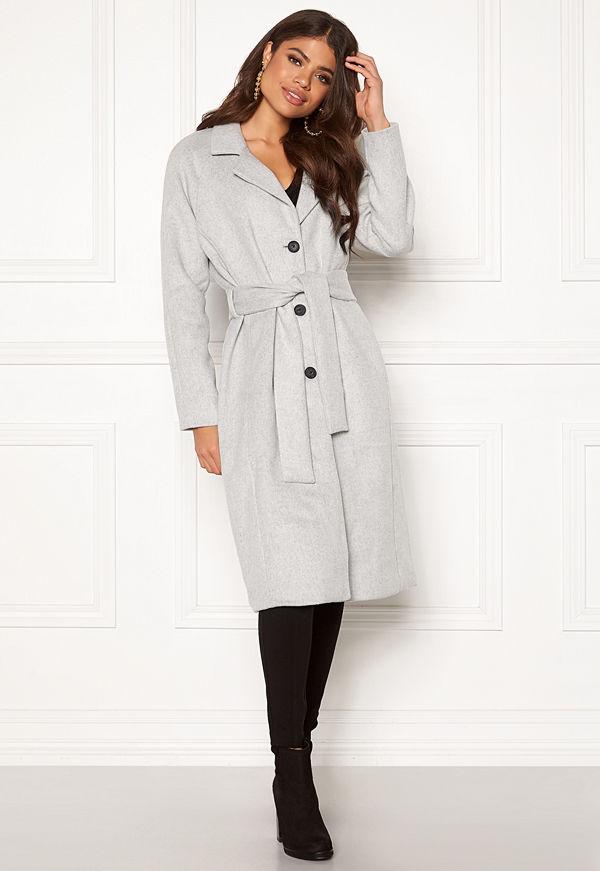 Object Lena Coat Light Grey Melange