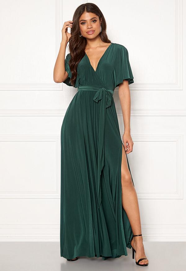 Goddiva Flutter Sleeve Maxi Dress