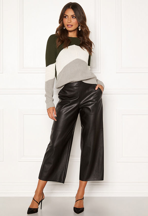 Vila Pen RW Cropped Wide Pants