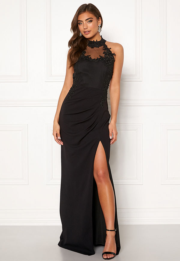 Moments New York Iris Drape Gown Black