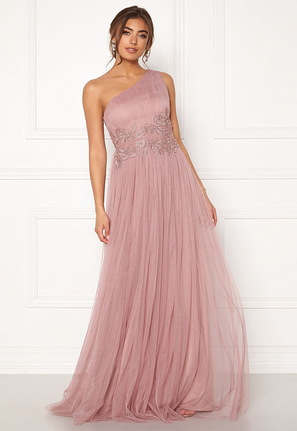 Moments New York Florine Mesh Gown Old rose