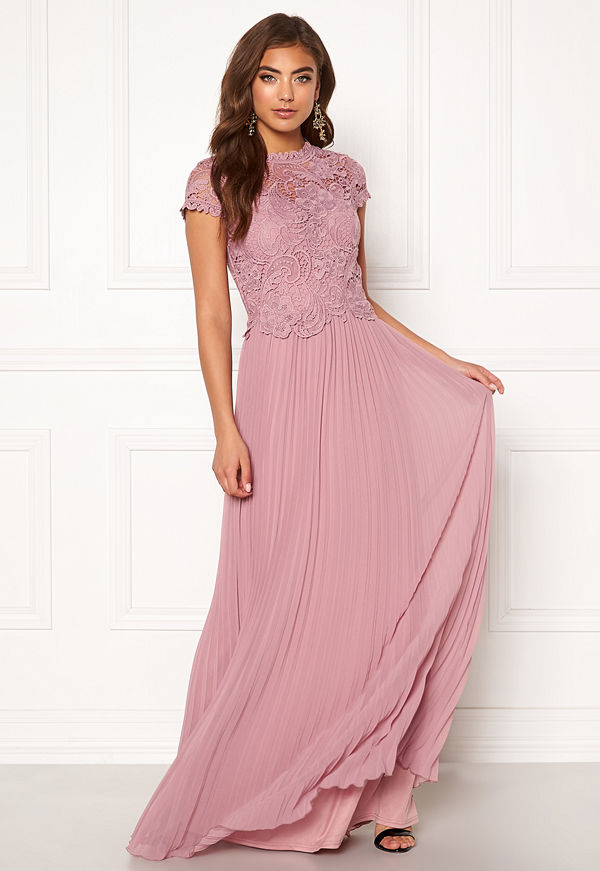 Moments New York Kassia Crochet Gown Dusty lilac