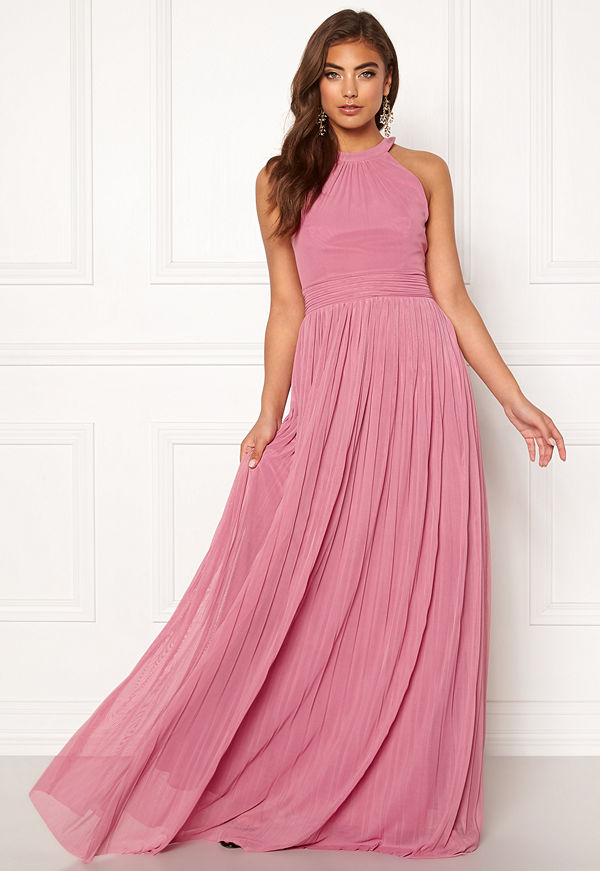 Moments New York Linnea Pleated Gown Dusty pink