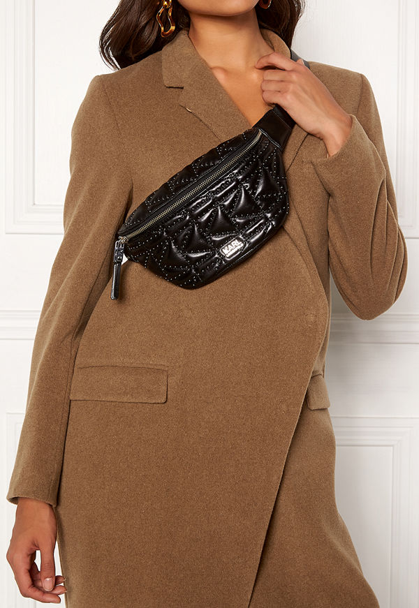 Karl Lagerfeld svart väska Quilted Studs Bumbag