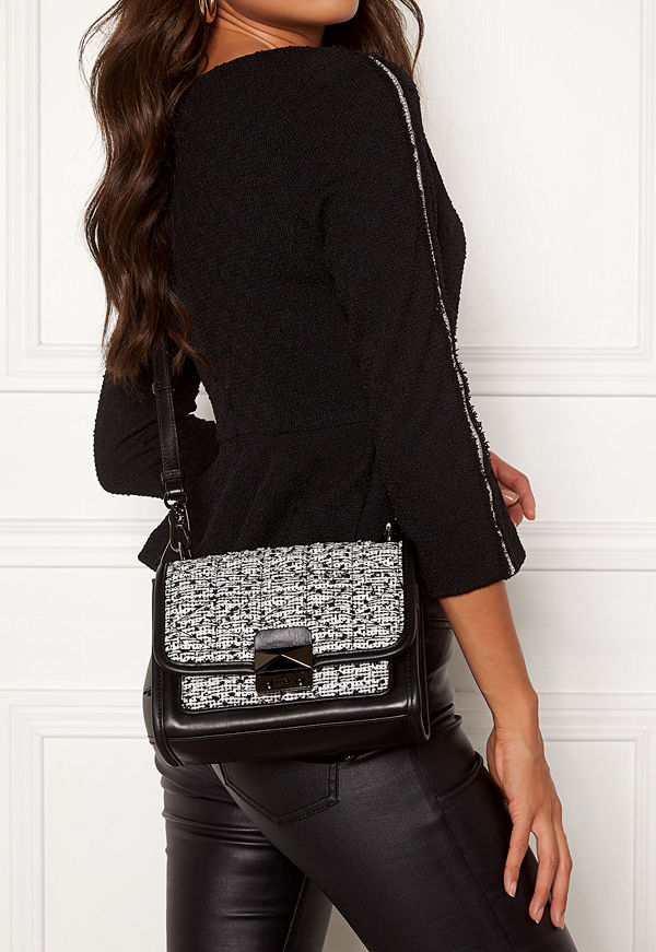 Karl Lagerfeld Quilted Tweed Small Bag