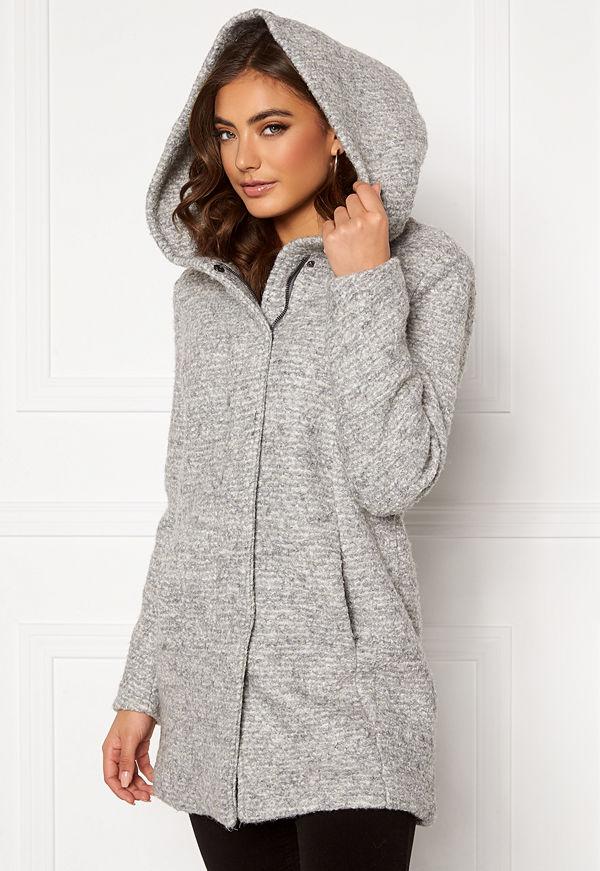 Only Sedona Boucle Wool Coat Light Grey Melange