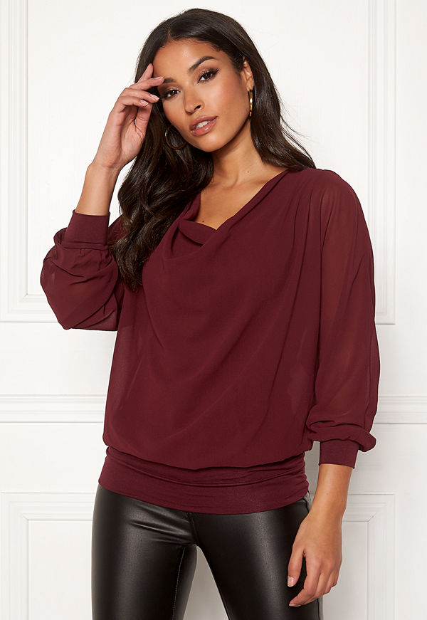 Happy Holly Lisa drapy blouse