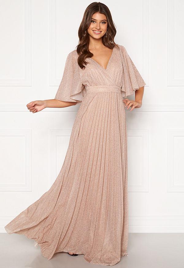 Goddiva Flutter Glitter Dress