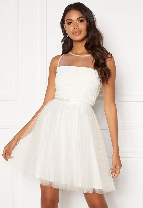 Moments New York Desire mesh dress  White