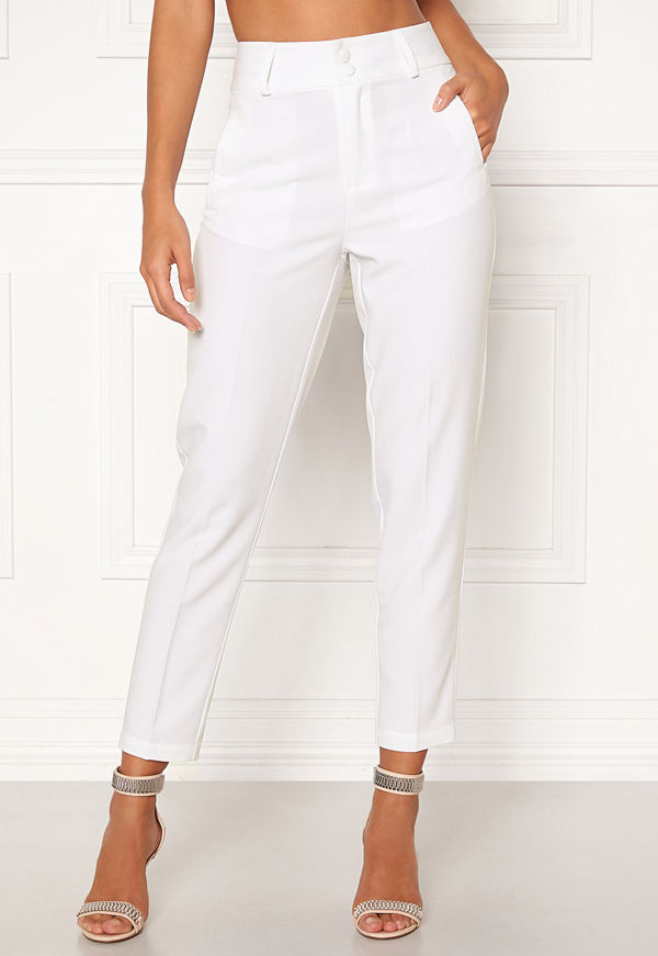 Happy Holly vita byxor Florence trousers White