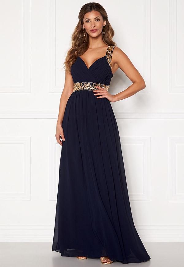 Chiara Forthi Diana Gown Dark blue / Gold