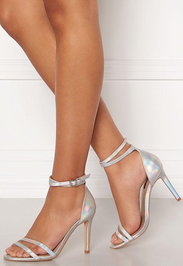 Only Aila Pu Iridescent Wrap Heeled Sandal