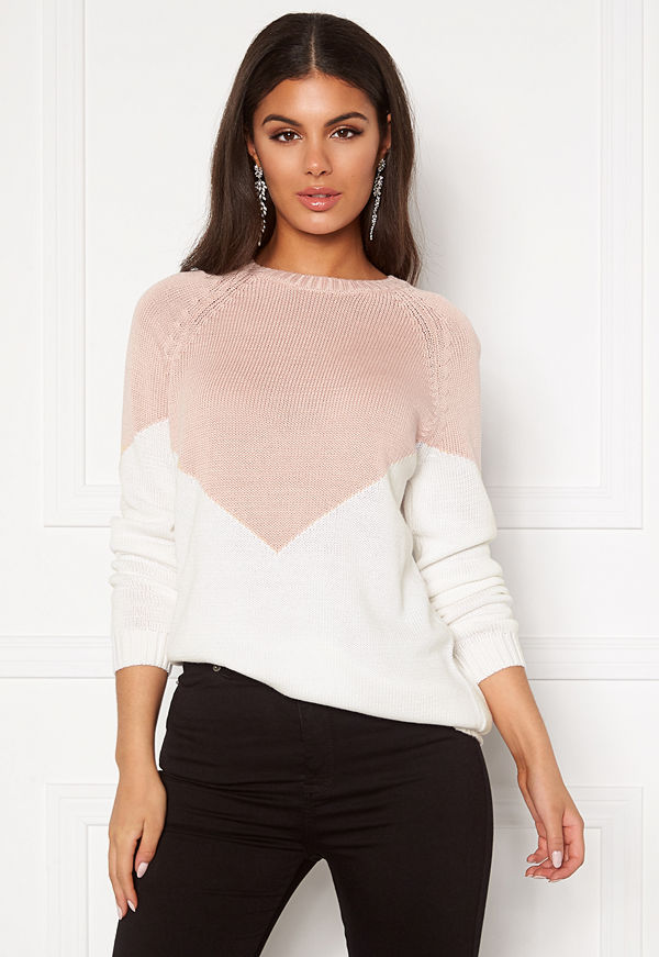 Only Sara L/S Block Pullover