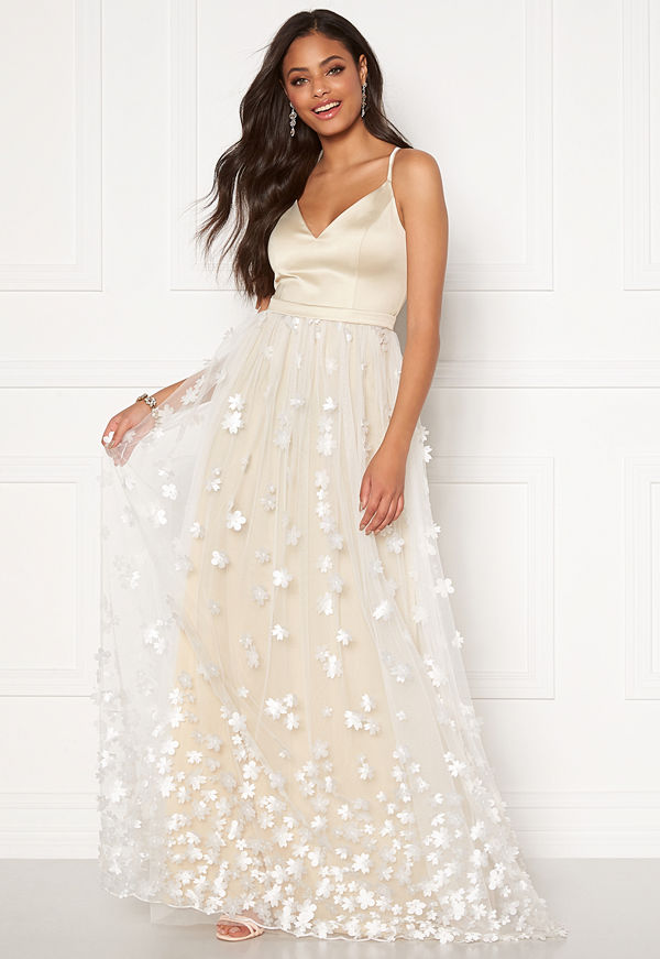 Moments New York Eline Flower Gown Champagne