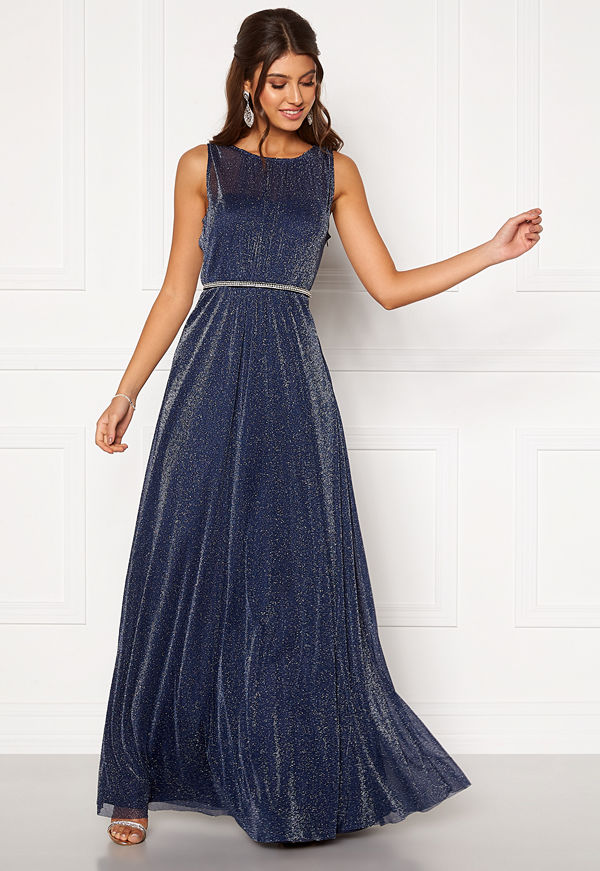 Moments New York Ophelia Lurex Gown Navy