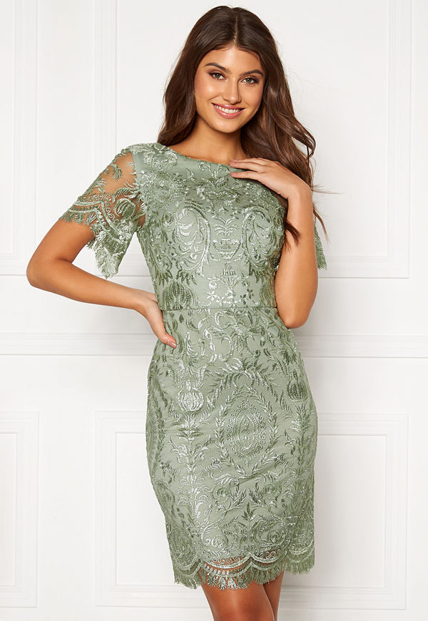 Moments New York Alexandra Beaded Dress Light green