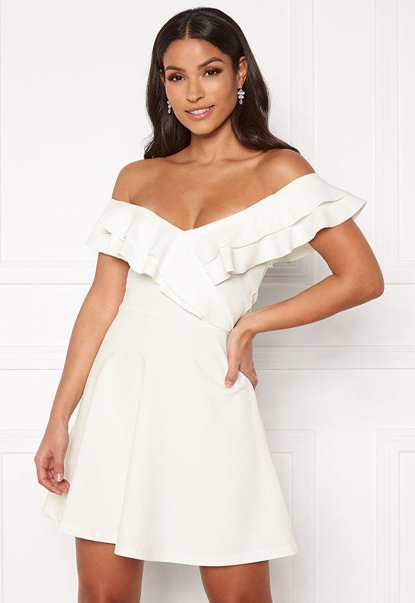 Bubbleroom Sanna flounce dress White