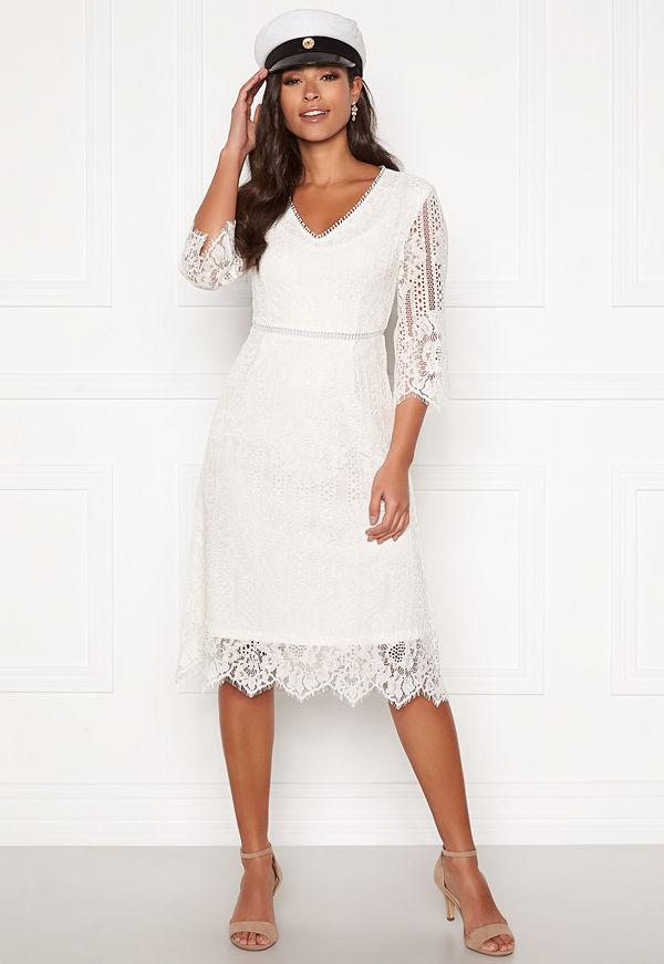 Happy Holly Jenna lace dress White
