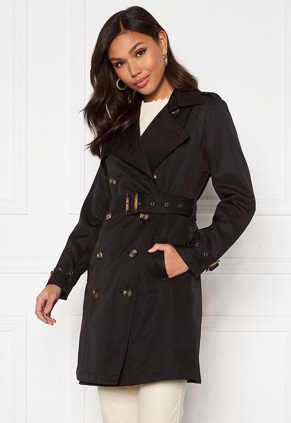 Chiara Forthi Moneglia Trench Coat Black