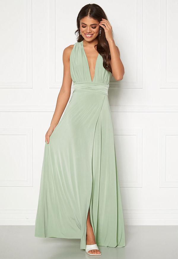 Goddiva Multi Tie Wrap Maxi Dress