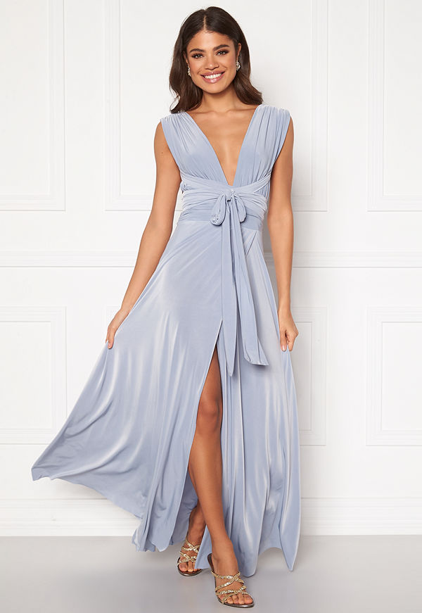 Goddiva Multi Tie Wrap Maxi Dress