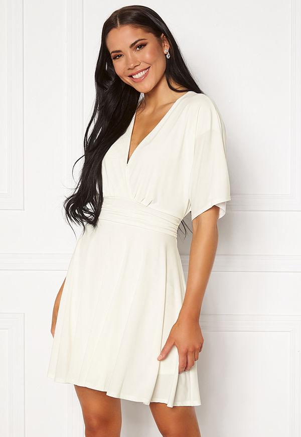 John Zack Kimono Sleeve Dress White