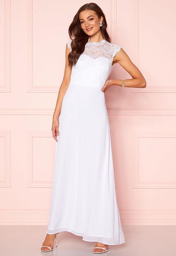 Goddiva Open Back Lace Maxi Dress