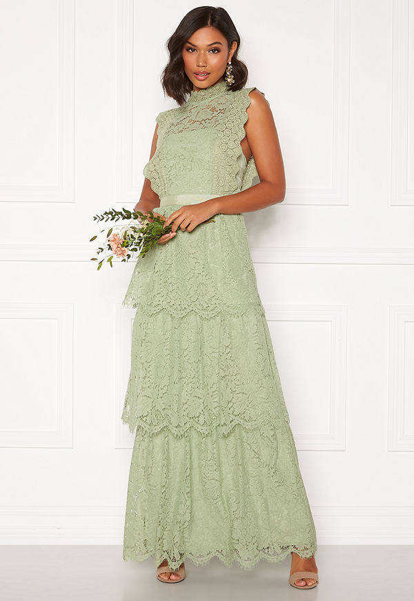 Moments New York Olivia Crochet Gown Green
