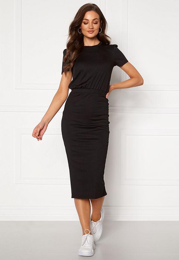 Bubbleroom Besa short sleeve dress Black