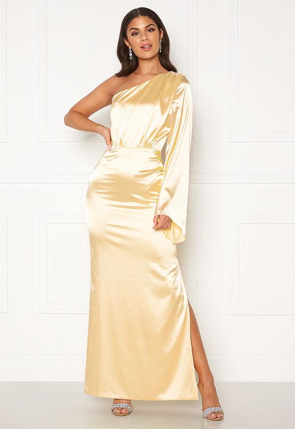 Nicole Falciani X Bubbleroom Nicole Falciani Satin Gown Gold-coloured