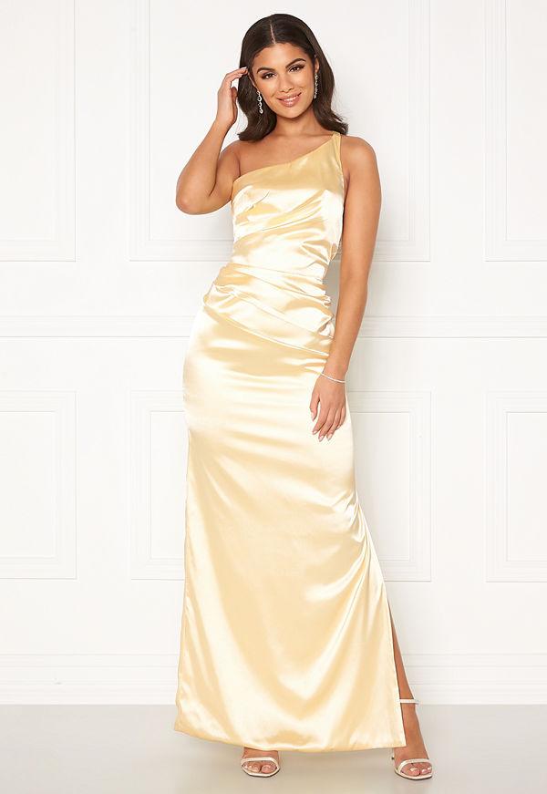 Nicole Falciani X Bubbleroom Nicole Falciani Pleat Gown Yellow