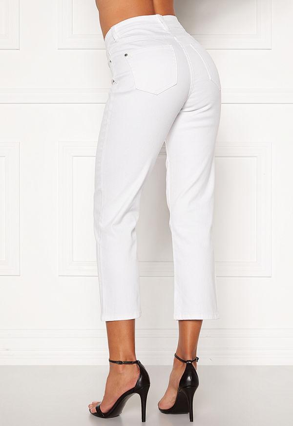 Happy Holly Maja high waist jeans White