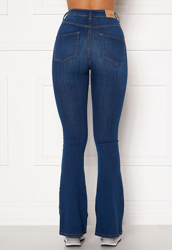 Bubbleroom Tove high waist flared superstretch Medium blue