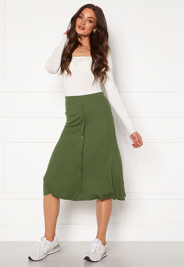 Object Kay Maxi Skirt Burnt Olive