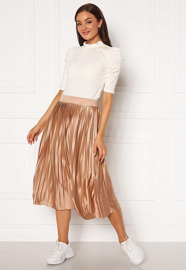 Ichi Pleat Skirt Natural