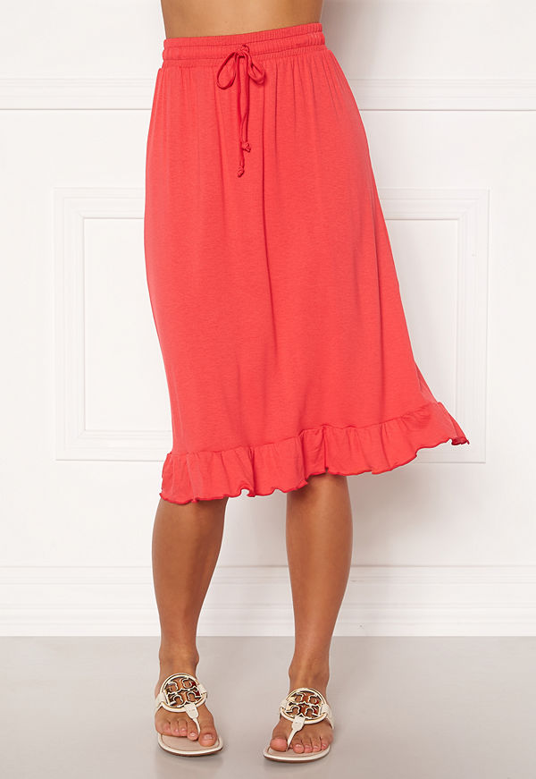 Happy Holly Desiree frill skirt Red