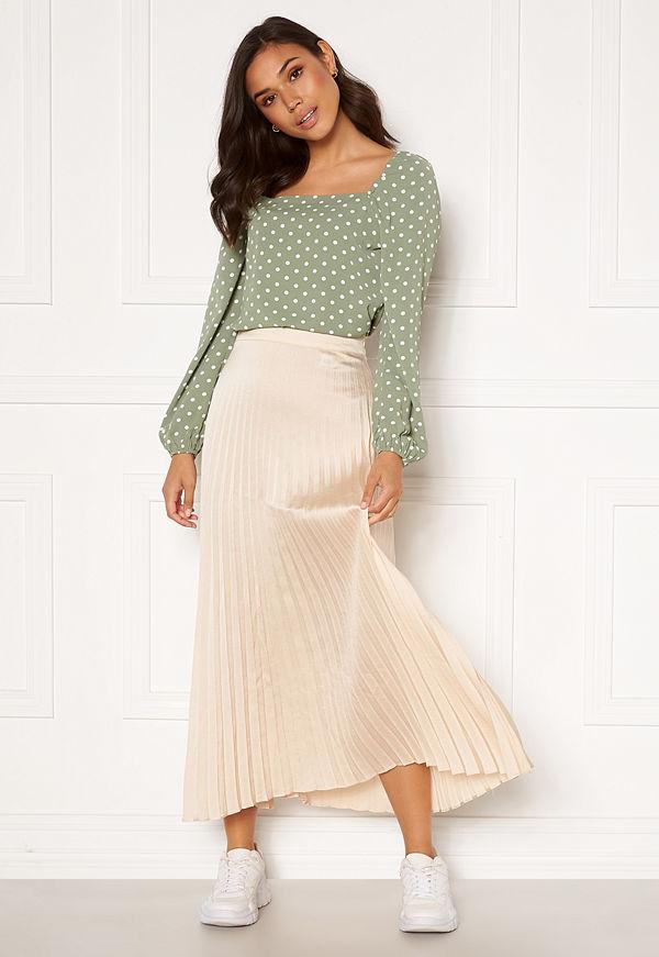 Rut & Circle Bianca Long Skirt Light Beige