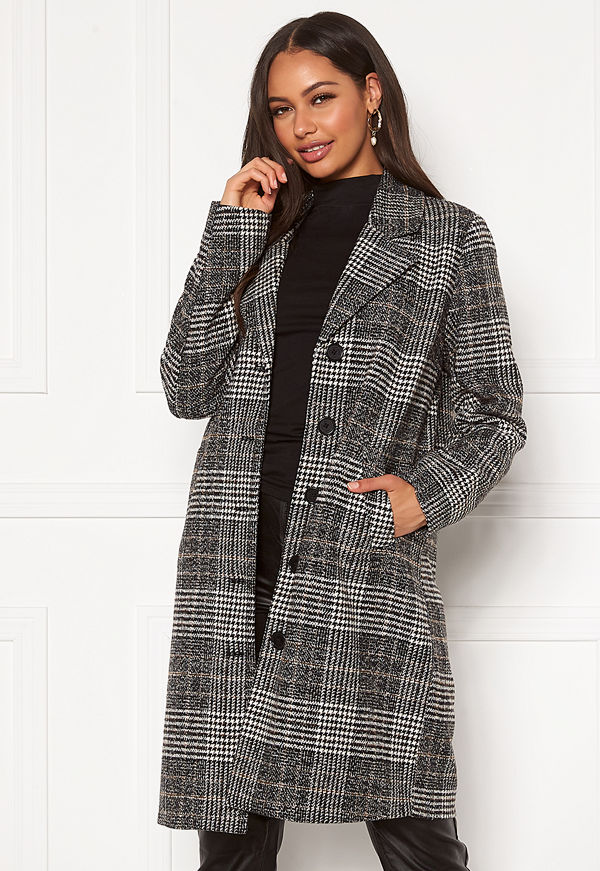 Happy Holly Corinne checked coat Checked