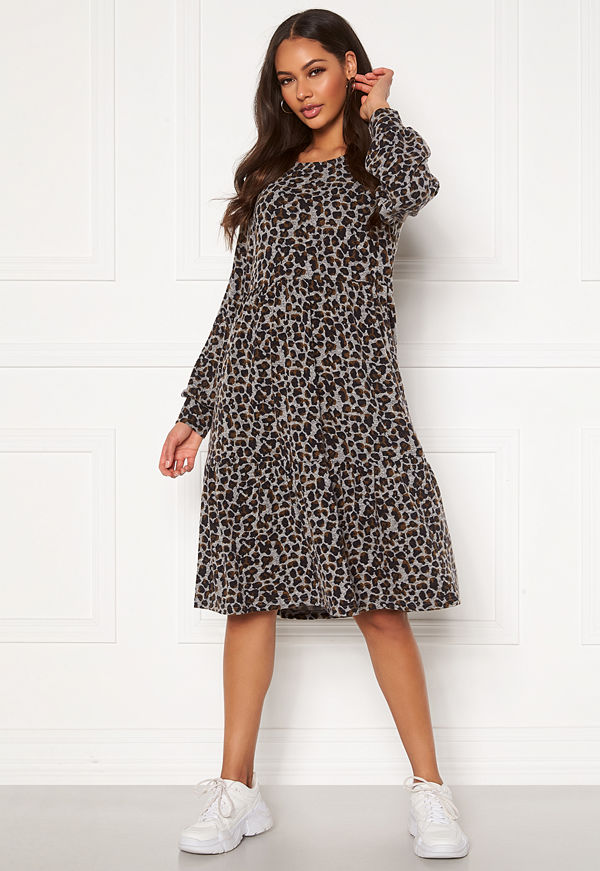 Happy Holly Liz flounce dress Leopard