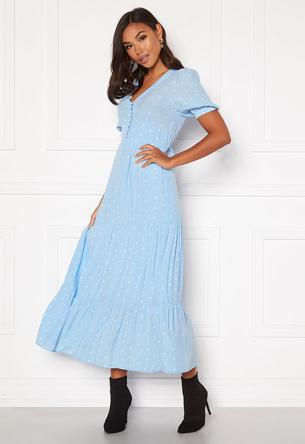 Vero Moda Ally V-Neck Ancle Dress Placid Blue