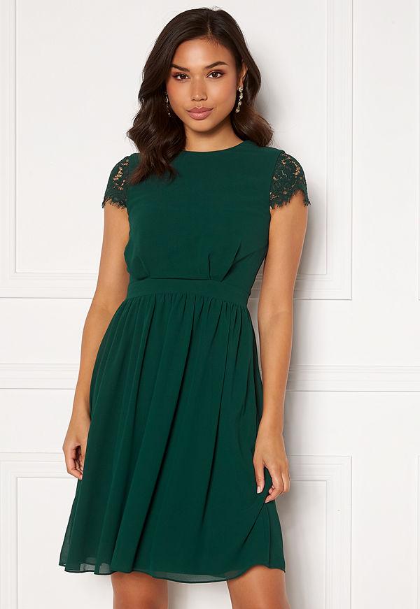 Moments New York Camellia Lace Dress Dark green