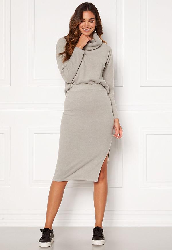 Bubbleroom Nelima knitted skirt Grey