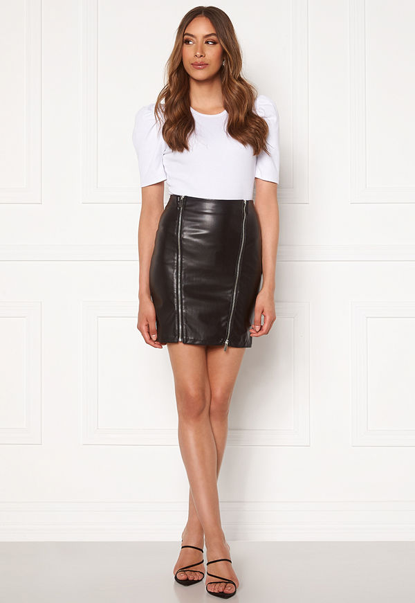 Chiara Forthi Negroni faux leather skirt