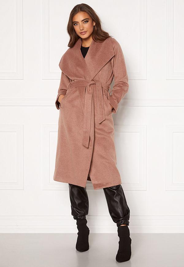 Moa Mattsson X Bubbleroom Pointy collar coat Brown