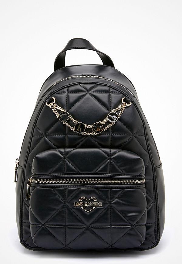 Love Moschino svart ryggsäck Jewel Strap Bag 000 Black
