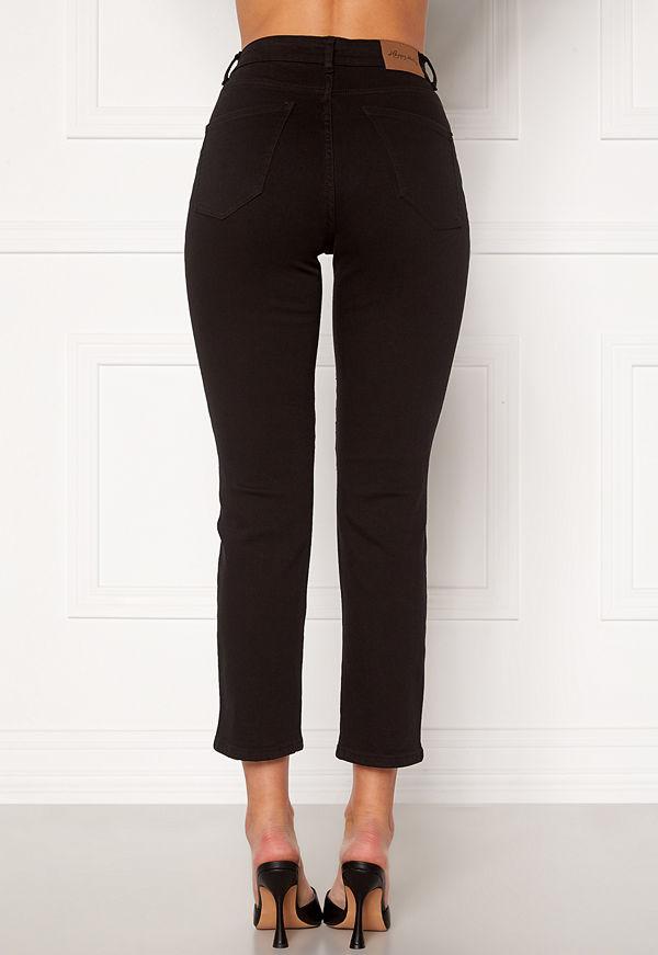 Happy Holly Peggy straight leg jeans Black denim