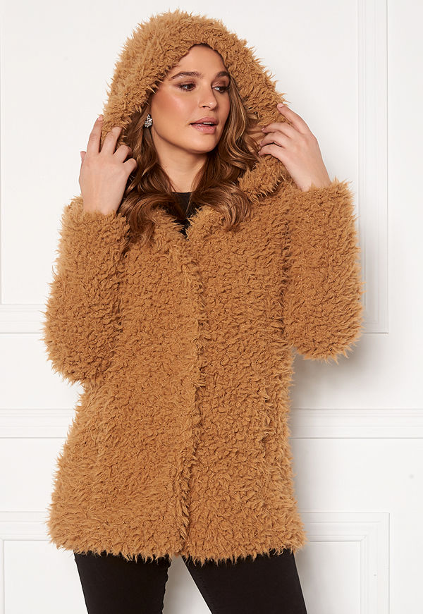 Happy Holly Jenny fur coat Camel