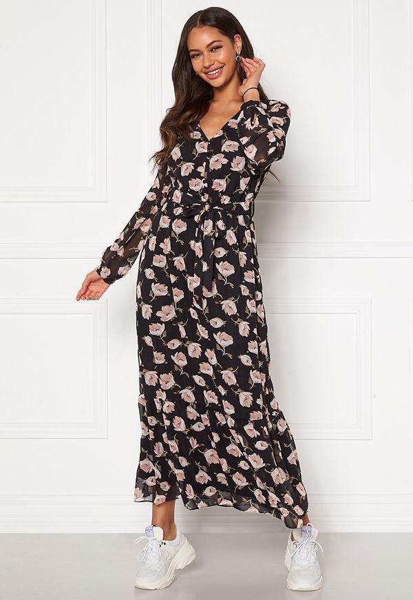 Happy Holly Ninni maxi dress Black / Patterned