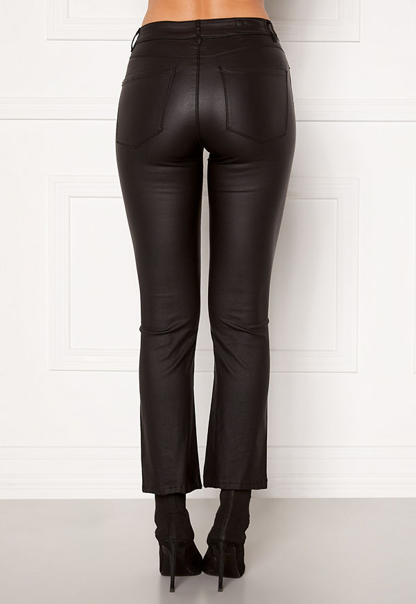 Vero Moda Sheila MR Kick Flare Coated Pant Black
